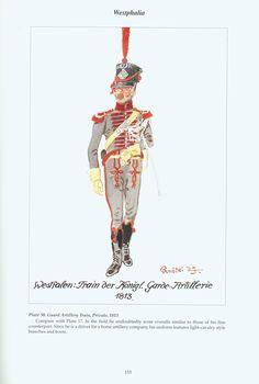 The Confederation of the Rhine - Westphalia: Plate 30. Guard Artillery Train, Private, 1813