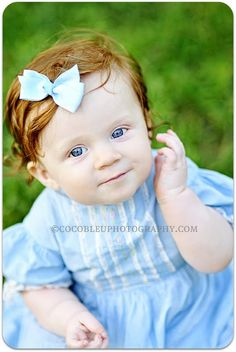 Is there anything more darling than a precious babe with red hair and sparking blue eyes?