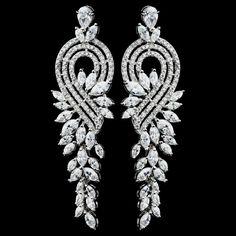 Clear Marquise CZ Dangle Earrings
