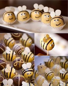 Lindo #mae_festeira #festaabelhinha #doce #sweets #bumblebee #cakepop #docesmodelados
