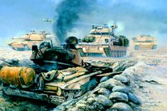 The Battle of 73 Easting, Iraq, February by David Pentland