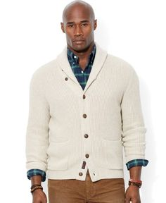 Ralph Lauren Polo Big and Tall Shawl Collar Cardigan Sweater | Clothing
