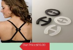 A great way to keep your boobies perky no matter what bra your wearing, is to safety pin the bra straps together behind your neck.  #BraConverters--3 pack
