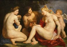 Painter: Peter Paul Rubens Title: Venus, Cupid, Bacchus and Ceres Date: 1612 - 1613 Location: Schloss Wilhelmshöhe https://www.facebook.com/TheNudismAndNaturismDailyNews
