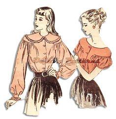 Advance 4614 Vintage 1940s Blouse Sewing Pattern by DejaVuPatterns