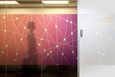AICT Office Environmental Graphics by The Globe , via Behance window film