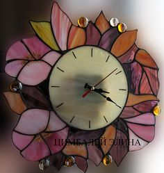 пикс by Divonsir Borges Stained Glass Mirror, Stained Glass Ornaments, Stained Glass Suncatchers, Stained Glass Projects, Mosaic Art, Mosaic Glass, Fused Glass, Paper Flower Art, Diy Clock