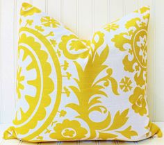 Yellow Decorative Pillow Covers Yellow by MariaClaireInteriors