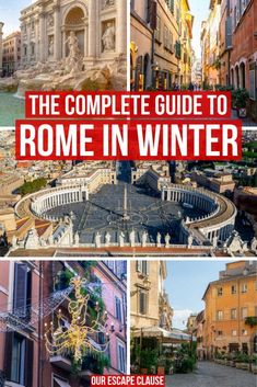 Considering a trip to Rome in winter? You should definitely go. Here's why you should book a winter trip and everything you need to know before you go! Rome in Winter: 21 Reasons to Visit + everything you need to know! Italy Travel Tips, Rome Travel, Europe Travel Guide, Travel Info, Travel Guides, Venice Travel, Budget Travel, Montezuma, Monteverde