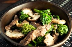 Ginger, Beef, and Mushroom Stir-fry | Paleo Leap | Paleo diet Recipes & Tips