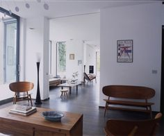 Mid century modern decorated apartment by Marc Corbiau.