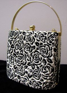 black and white vintage purse