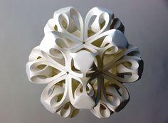 https://flic.kr/p/iRfmJ   Icosahedron II   Paper Sculpture Diameter approx. 80cm 200gsm cartridge paper, adhesive. www.richardsweeney.co.uk  Facebook Twitter