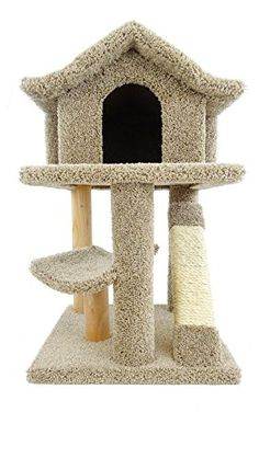 New Cat Condos Premier Mini Cat Pagoda House Brown *** Be sure to check out this awesome product.
