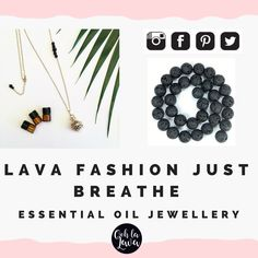 Essential Oil Jewellery Australia | Aromatherapy Necklace, add essential oil to lava stone. #lavafashion Diffuser Jewelry, Diffuser Necklace, Essential Oil Jewelry, Essential Oil Diffuser, Essential Oils For Breathing, Aromatherapy Jewelry, Lava Bracelet, Just Breathe, Handcrafted Jewelry