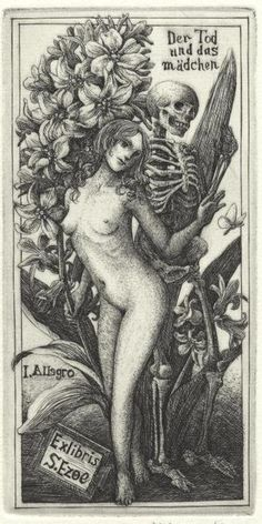 Death and the maiden     Ex Libris for S.Ezoe