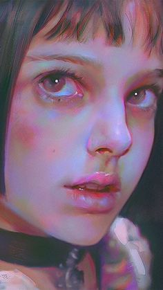 wallpaper for iPhone, iPad Leon Matilda, Mathilda Lando, Deviant Art, Painting Wallpaper, Realism Art, Portrait Art, Traditional Art, Dark Art, Art Inspo