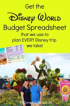 Save money and plan your expense budget for your next trip to Disney World. This Google Drive and Excel spreadsheet helps you plan your budget for all sorts of trips, with special Disney travel related categories. Includes instructions for use, it's so easy to plan your Disney budget! #disneyworldbudget #disneyworldspreadsheet #travelbudgetspreadsheet #disneyplanner