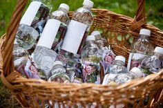 photo water bottle labels
