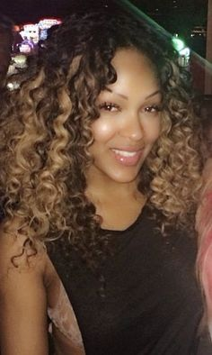 Celebspiration: Meagan Good with gorgeous curls.
