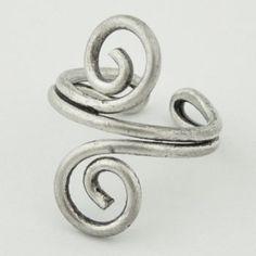 Metal Spiral Toe Ring $4