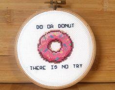 PATTERN: Do Or Donut Funny Cross Stitch Pattern by jimjamcrafts
