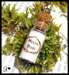 Moon Dust GLOW in the DARK Bottle Necklace  by GabriellesCreations 30% #DISCOUNT #coupon #code 2015WISHES