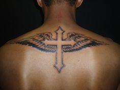 cross tattoos for men | Winged Cross Tattoos For Men