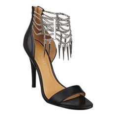 "Nine West: Collections > White Hot > Anastia - peep toe pump..with chain detailing and back zipper entry. 4 1/4"" heel...BLACK/SILVER LEATHER...  http://www.ninewest.com/Anastia/11621777,default,pd.html?omn=cross-sell=11511397"