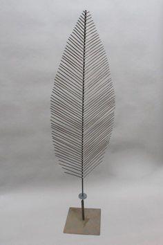 Blatt Skulptur aus 5 mm Rundstahl