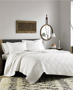 Vera Wang Puckered Diamond Matelassé Coverlet In White    BedBathandBeyond.com | Willis Apartment | Pinterest | Master Bedroom And  Bedrooms