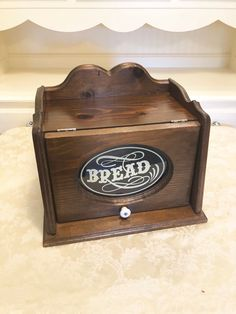 Excited to share this item from my shop: Antiqued Wooden Bread Box With Glass Detail In Center Reads Bread All Original! Wooden Bread Box, Bread Boxes, Modern Interior, Home Interior Design, Modern Decor, Primitive Kitchen, Dark Stains, Modern House Design, Home Crafts