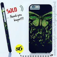 Green Butterfly iPhone Case by artgaragefinland Cell Phone Cases, Iphone Cases, Green Wing, Green Butterfly, Bird Wings, Laptop Covers, Insta Art, Apple Iphone, Butterflies