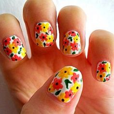 Summer Nail Designs 2013: Awesome Flowers Nail For Summer 2013 ~ fixstik.com Nail Designs Inspiration