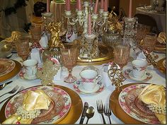 pink tablescapes - Google Search
