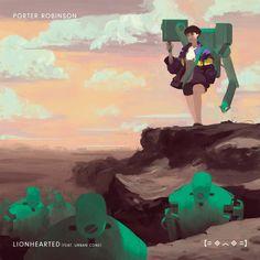 "Porter Robinson, ""Lionhearted"" single artwork"