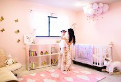 Finally sharing our nursery reveal!  I wanted a pretty space that indulged in all things girly! 💕 From fluffy clouds to magical unicorns to whimsical butterflies, this space has been a dream to decorate and one of our new favorite places to spend time in the house! 🦄 Details #ontheblog or shop a few of my favorite items via email by signing up for @liketoknow.it and liking this post!  http://liketk.it/2oXLS #liketkit #ltkhome #ltkbaby