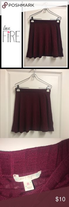 Love, fire maroon circle skirt Perfect condition, worn once a soft and comfortable maroon circle skirt love, fire Skirts Circle & Skater
