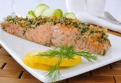 Salmone in crosta di pistacchi