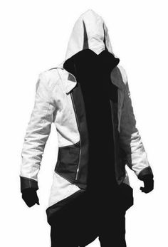 Black Friday Assassins Creed 3 Connor/Conner Kenway Hoodie Costume Jacket Coat (Men-L, white with black) from Janecosplay WOW I WANT THIS ONE.