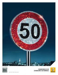 Renault speed sign poster copy