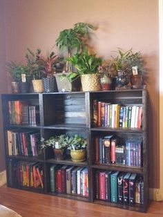 36 ideas wooden crate bookcase - 36 ideas wooden crate bookcase Best Picture For bts room decor For Your Taste You are look - Decor, Apartment Decor, Diy Home Decor, Interior, Home Diy, Diy Furniture, Home Decor, Bookshelves Diy, Home Projects