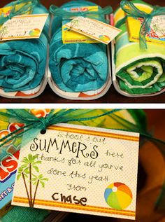 """End of the year teacher gift. Click on link and go to """"you will need this link"""" for free printable. http://www.sisterswhat.com/2012_05_01_archive.html"""
