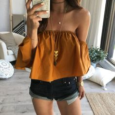 Fashion Ladies Summer Spring 2018 Yellow Blouse Women Off Shoulder Top Casual Shirt Elegant Slim Ruffles Bodycon Blouses