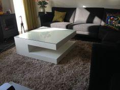 VRI interieur salontafel wit, salontafel met glas, salontafel modern design