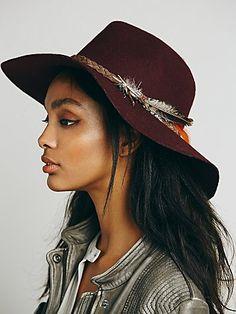 Lovely Embellished Hat; wine color