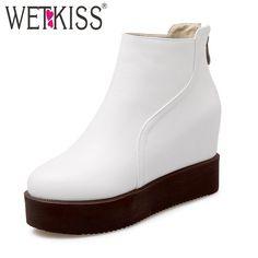 Ucuz WETKISS Boyutu 34 42 bayan Ayak Bileği Boots Gizli Takozları Düz Taban Platformu Kürk Sonbahar Kış Çizmeler Ayakkabı Eklemek kadın Botas Mujer, Satın Kalite bayan botları doğrudan Çin Tedarikçilerden: tür notcie: 1, tüm mağaza mal perakende ve toptan.Herhangi bir toptan siparişler, bizimle irtibata geçmek bize mesa