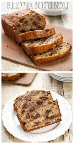 Buttermilk Banana Bread  {Sweet Pea's Kitchen}