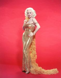 Mamie Van Doren in gold lame - wow!