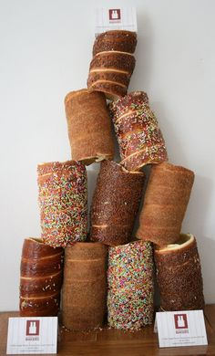 Chimney Cake Tower! www.chimneycakebakers.com